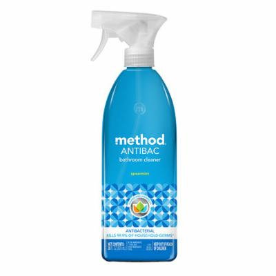 method ANTIBAC, Antibacterial Bathroom Cleaner Spearmint 28.0 fl oz(pack of 12)
