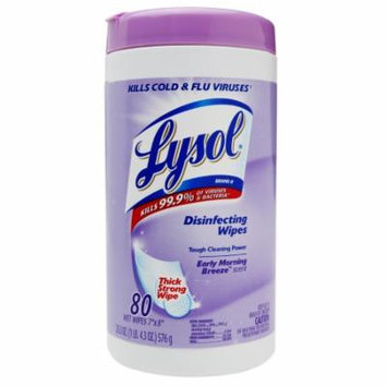 Lysol Disinfecting Wipes Early Morning Breeze 80.0 ea(pack of 6)