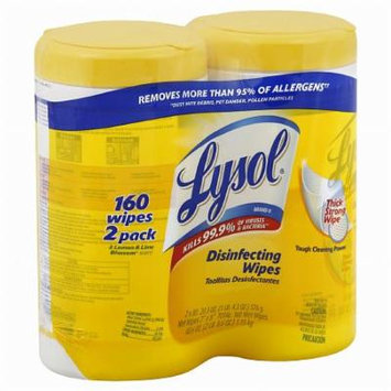 Lysol Disinfecting Wipes Lemon & Lime Blossom 80.0 ea(pack of 6)