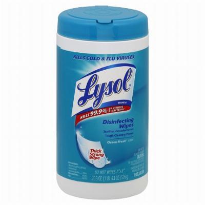 Lysol Disinfecting Wipes Ocean Fresh 80.0 ea(pack of 1)