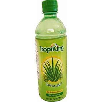 Tropiking Aloe Vera Drink 16.9 oz - Bebida de Savila (Pack of 18)