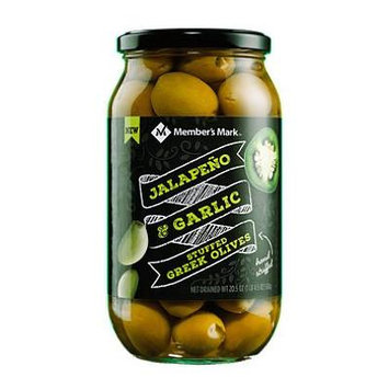 Member's Mark Jalapeno & Garlic Stuffed Olives (20.5 oz.) (pack of 2)