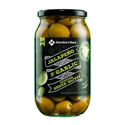 Member's Mark Jalapeno & Garlic Stuffed Olives (20.5 oz.) (pack of 2)