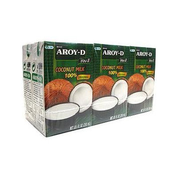 Aroy-D 100% Pure Coconut Milk 8.5oz Pack of 12 Come With FREE Fruit Knife By KC Commerce