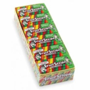 6 Pack - Fruit Stripe Chewing Gum 1 sided tray 12 pack (17ct per pack)