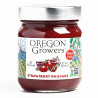 Oregon Growers Strawberry Rhubarb Jam 12 oz each (1 Item Per Order, not per case)