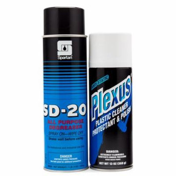 All Purpose Cleaning Kit- Plexus Plastic Cleaner Protectant And Polish Spartan Defense All Purpose Degreaser