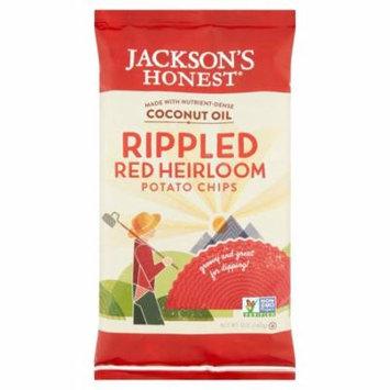 Jackson's Honest Rippled Red Heirloom Potato Chips, 5 oz, 12 pack