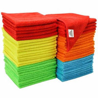 S&T Bulk Microfiber Kitchen, House, & Car Cleaning Cloths - 50 Pack, 11.5