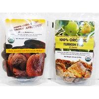 Indus Organics Jumbo Turkish Dried Apricots & Fig Combo Pack, Sulfite Free, No Added Sugar, Premium Grade, Freshly Packed