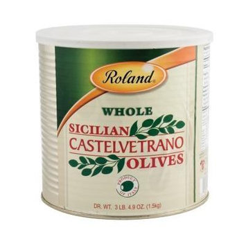 Roland: Whole Castelvetrano Olives 90 Oz (4 Pack)