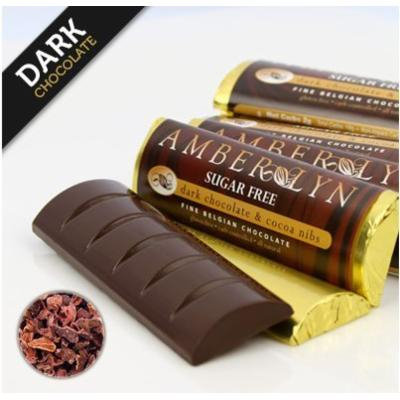 Sugar-free Dark Chocolate & Cocoa Nibs Bars (5 bars)