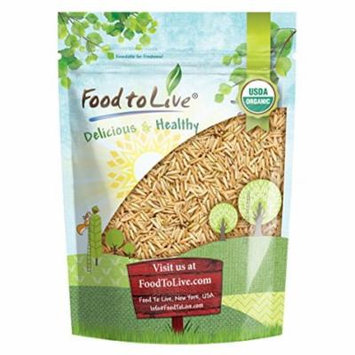 Certified Organic Raw Brown Basmati Rice (Non-GMO, Origin USA, Bulk, Food to Live) (1 pound)