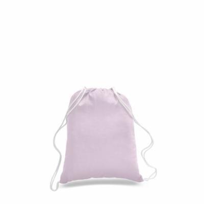 Pack of 12 - Cotton Promotional Sport Drawstring Bag, Cinch Pack