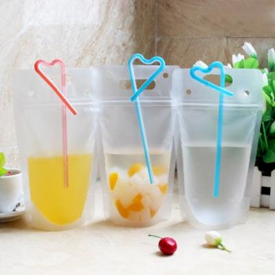 Codream 50 Pack 400ml Drink Bags Stand up Reclosable Zipper Drinking Pouches