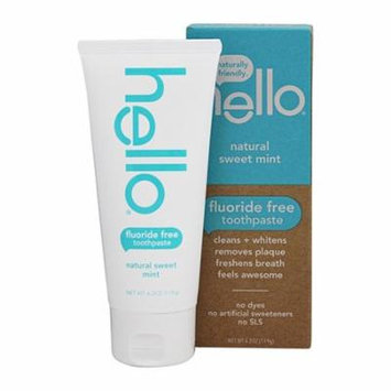 Hello Oral Care Fluoride Free Toothpaste Sweet Mint, 4.2 Oz, 2 Pack