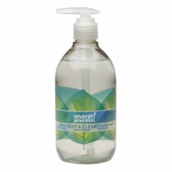 Seventh Generation Natural Hand Wash, Free & Clean 12 fl oz(pack of 12)