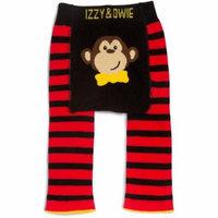 Izzy & Owie - Red & Black Monkey Baby Leggings