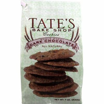 12 Pack : Tate's Bake Shop All Natural Whole Wheat Dark Chocolate Chip Cookies 7oz