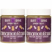 Buff Bake Protein Peanut Spread Cinnamon Raisin - 13 oz (Pack of 2)