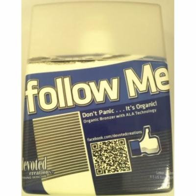 DEVOTED CREATIONS FOLLOW ME ORGANIC BRONZER TANNING BED LOTION