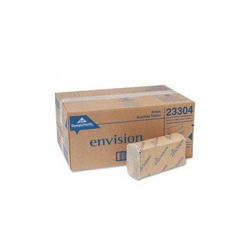 Envision Folded Paper Towels Multifold Paper Towel, 9-1/5 x 9-2/5, Brown, 250/Pack, 16/Carton 8 Pack