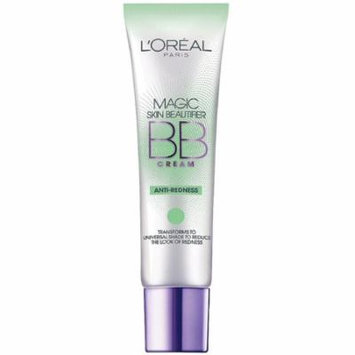 L'Oreal Paris Magic Skin Beautifier BB Cream, Anti-Redness 1 oz (Pack of 2)