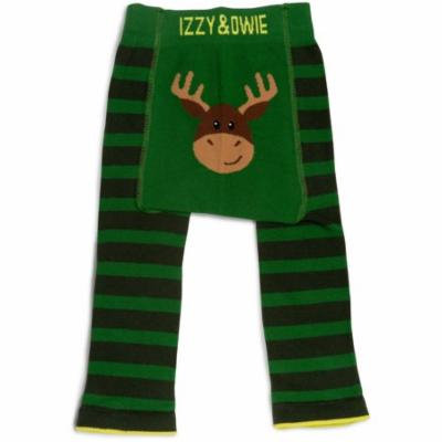 Izzy & Owie - Forest Green Moose Baby Leggings