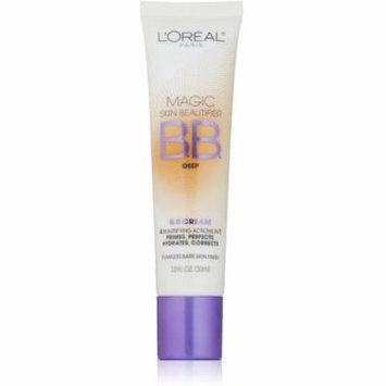 L'Oreal Magic Skin Beautifier BB Cream, Deep 1 oz (Pack of 2)