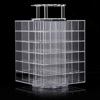 Acrylic Makeup Spinning Lipstick Cosmetic Organizer Storage Display Stand Holder Tower HITC