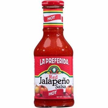 La Preferida Hot Red Jalapeno Salsa, 16 oz
