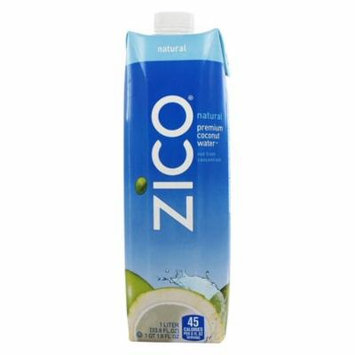 Zico - Pure Premium Coconut Water Natural - 1 Liter (pack of 3)