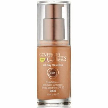 CoverGirl Queen Collection All Day Flawless Foundation, Soft Copper [Q830] 1 oz (Pack of 6)