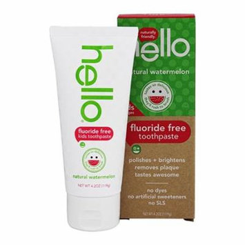 Hello Oral Care Kids Fluoride Free Toothpaste Watermelon, 4.2 Oz, 3 Pack