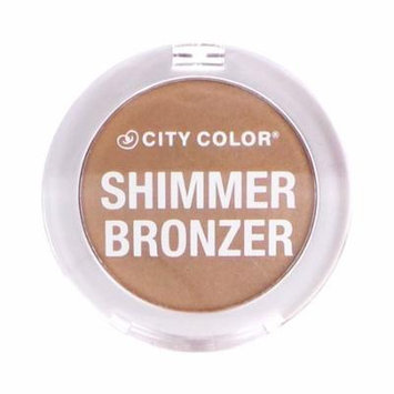 (6 Pack) CITY COLOR Shimmer Bronzer - Caramel