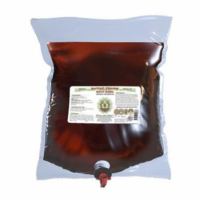 Holy Basil (Ocimum Tenuiflorum) Glycerite, Organic Dried Leaf Alcohol-Free Liquid Extract, Tulasi, Glycerite Herbal Supplement 2 Gal