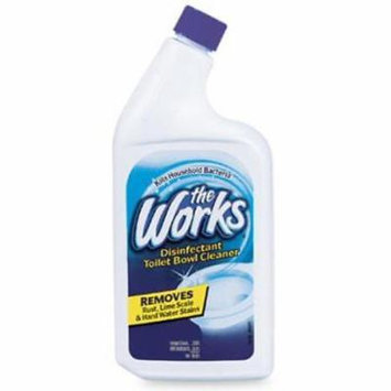 32 OZ The Works Toilet Bowl Cleaner Professional Formula 4PK