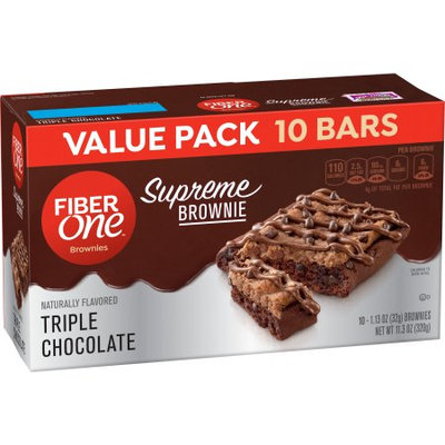 Fiber One General Mills Fiber One Supreme Brownies Cookie Dough Value Pack