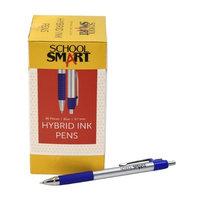 School Smart 1572361 0.7mm Pen Grip Hybrid Ink Blue Metal - Pack of 48