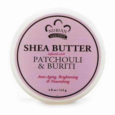 Nubian Heritage Shea Butter Patchouli and Buriti Anti Aging Cream, 4 Oz, 2 Pack