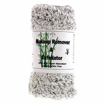 Makeup Remover and Exfoliator Bamboo Charcoal Cloth (1) Large and (3) Travel Size - 1 Pack