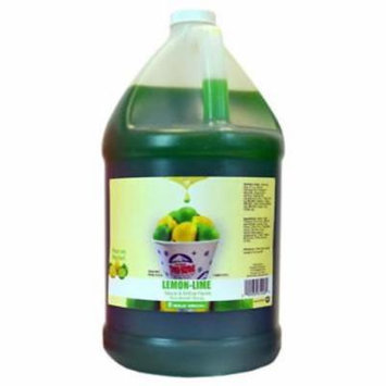 Gallon Lime Sno-Cone Syrup Mixed With High Fructose Corn Syrup