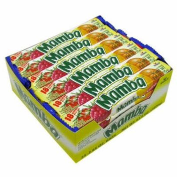Mamba Variety 18 Fruit Chews 24 pack (2.65 oz per pack) (Pack of 6)
