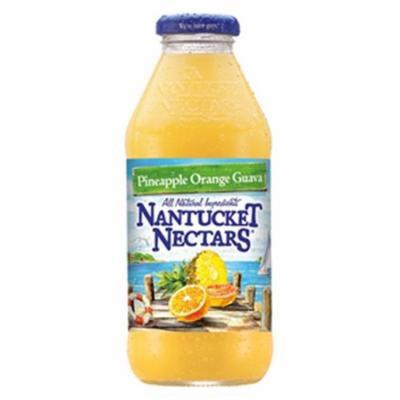 Nantucket Nectars Pineapple Orange Guava 16 oz Glass Bottles - Pack of 12