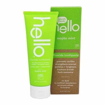 Hello Oral Care Fluoride Toothpaste, Mojito Mint, 5 Oz, 6 Pack