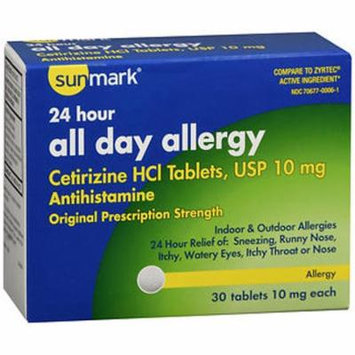 Sunmark 24 Hour All Day Allergy Tablets - 30 ct
