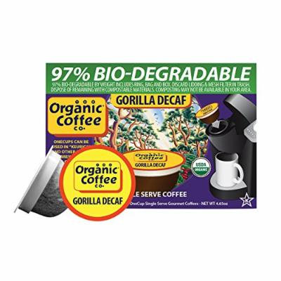 Organic Coffee Company OneCups - Gorilla Decaf - Case of 6 - 4.65 oz.