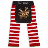 Izzy & Owie - Red and White Reindeer Baby Leggings