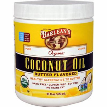 Barlean's Organic Coconut Oil Butter -- 16 fl oz pack of 6