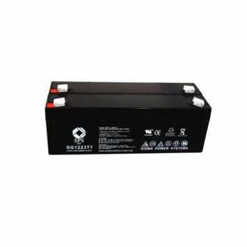 SPS Brand 12V 2.3 Ah Replacement Battery for Sscor AA820 PATIENT STIMULATOR READY PACE (2 pack)